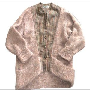 Mohair Wool Oversized Cardigan Made In Canada